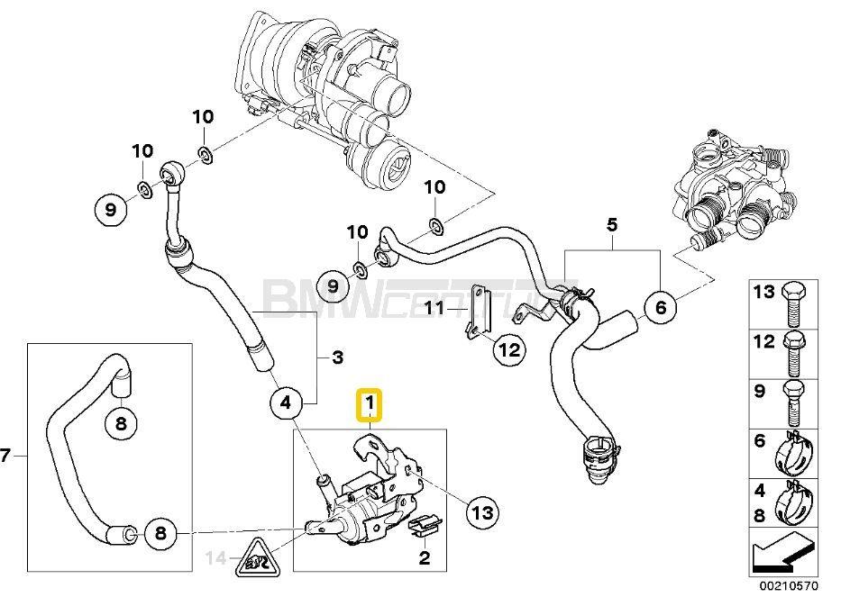 Dodatkowa Pompa Wody N14 N18 Mini R55 Clubman R56 R57 R58 R59 R60 Countryman R61 Paceman