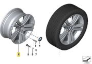"Felga aluminiowa 17"" Wzór Styling Double Spoke 392 BMW F30 F31 F32 F33 F36"