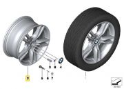 "Felga aluminiowa 18"" Wzór Styling Star Spoke 400 M Power BMW F30 F31 F32 F33 F34 F36"