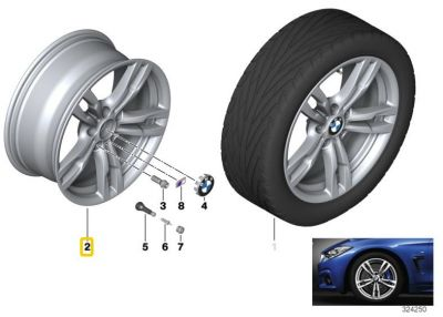 "Felga aluminiowa 18"" Wzór Styling Double Spoke 441 M Power BMW F30 F31 F32 F33 F36"