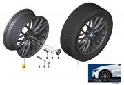 "Felga aluminiowa 18"" Wzór Styling Double Spoke 405 M Power czarny mat BMW F30 F31 F32 F33 F34 F36"