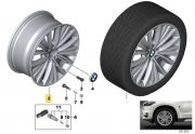 "Felga aluminiowa 19"" Wzór Styling Multi Spoke 448 BMW X5 F15"