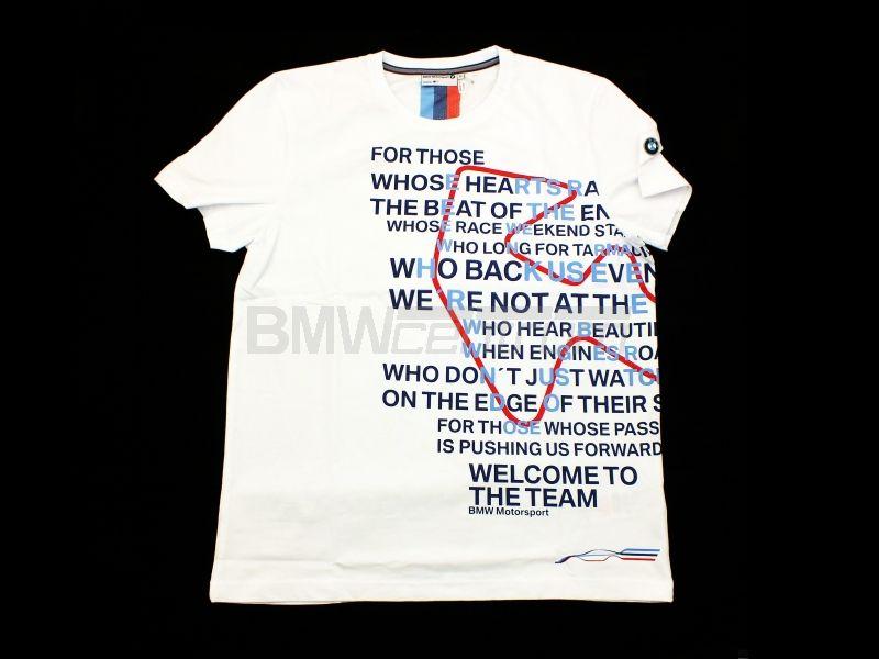 46449a0d5 ... Koszulka z nadrukiem BMW Motorsport, męska, biały, rozmiar XL ...
